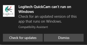 Trying to install QuickCam 5000 Pro driver leads to error